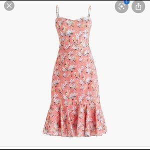 J. Crew Ruffle Hem Midi Dress. Size 8.